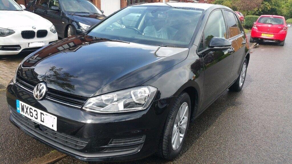VW GOLF MK7 1.6 TDI SE BLUEMOTION BMT BLACK CAR