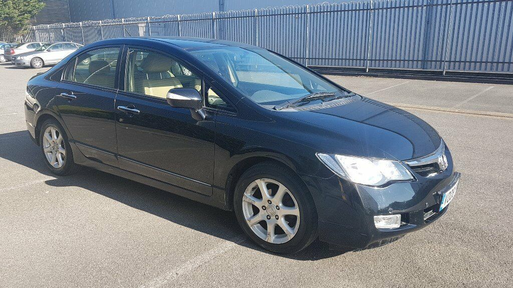 2008 HONDA CIVIC HYBRID BLACK, AUTO. 1.3