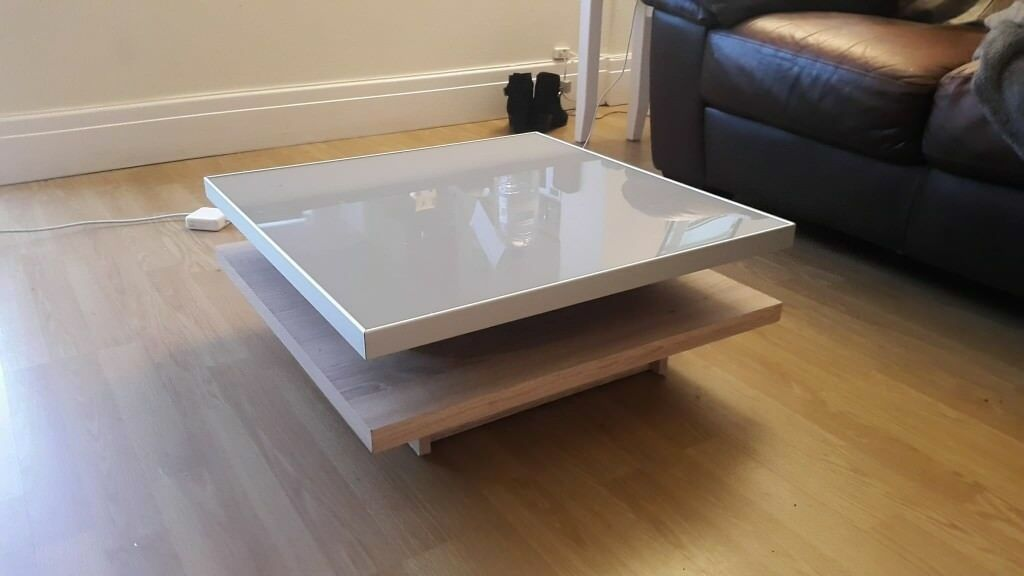 Beech Frosted Glass Coffee Table