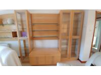 Bon Dining Room Wall Display Units, Glass Shelves, 4 Door Sideboard And Coffee  Table