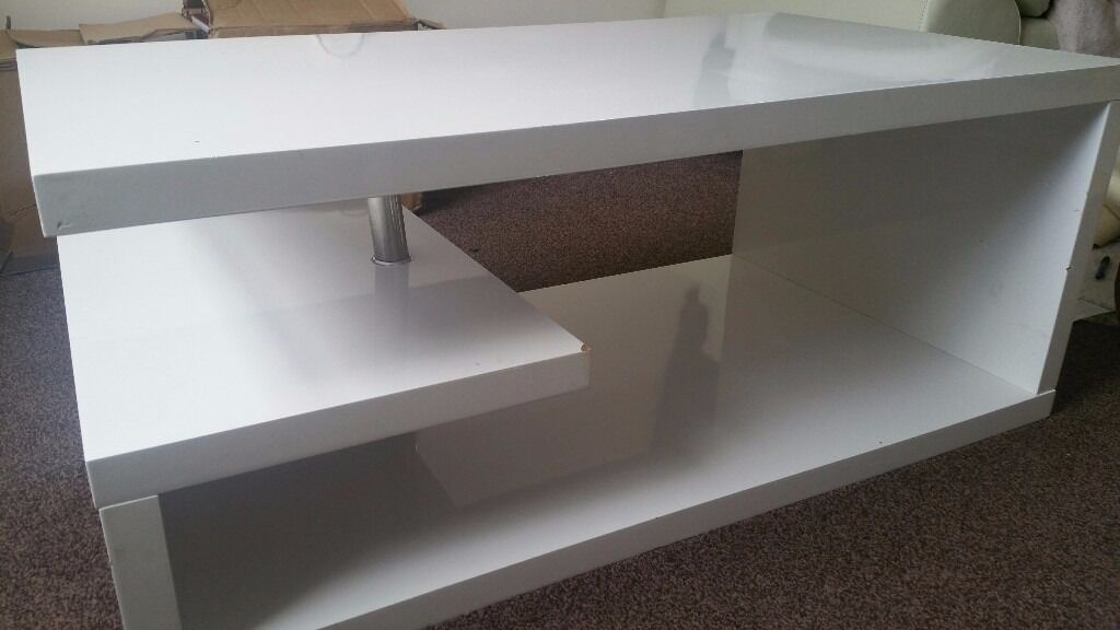 White High Gloss Coffee Table, TV Stand And Cabinet (Bulk Sale   All White