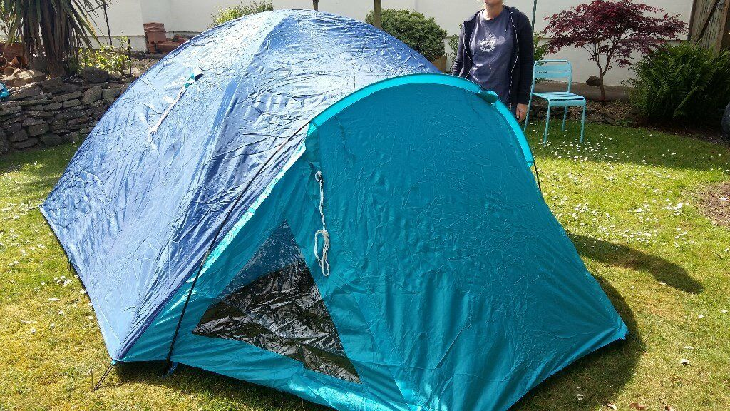 Galaxy 4 man dome tent inner and flysheet fibreglass poles- used once & Galaxy 4 man dome tent inner and flysheet fibreglass poles- used ...