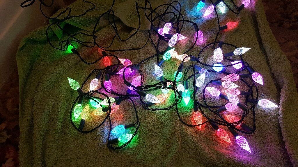 WILKO 60 LED JUMBO COLOUR CHANGING LIGHTS RETRO STYLE INDOOR & WILKO 60 LED JUMBO COLOUR CHANGING LIGHTS RETRO STYLE INDOOR | in ...