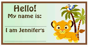 20 lion king baby simba baby shower name tags