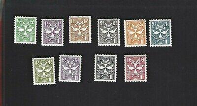 Malta sc#J22-31 (1968) Complete MNH