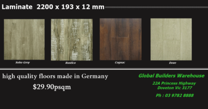 $29.90psqm Laminate Long Boards | High Quality Made in Germany ! Dandenong Greater Dandenong Preview