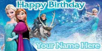 Birthday banner Personalized 4ft x 2 ft  Frozen, Disney, Anna Elsa Kristoff - Banner Frozen