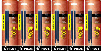 Pilot Frixion Ball Gel Ink Refills Fine Point 0.7mm Navy Ink 12 Refills