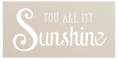 You Are My Sunshine Stencil (You Are My Sunshine Stencil by StudioR12 | Trendy Script & Serif Word Art)