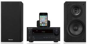 Pioneer X-HM30 K Schwarz NEU Micro Hifi iPod/iPhone Dock DVD/CD HDMI USB XHM30