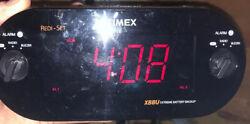 TIMEX T715 XBBU Redi-Set Dual Alarm Clock Radio AM/FM Large Digital Display