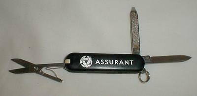Assurant Logo Black Victorinox Knife Swiss Army Switzerland Used Excellent