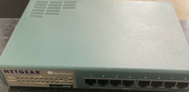 Netgear Ethernet Hub EN 308 8pott