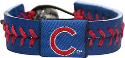 Chicago Cubs LEATHER Gamewear Wrist Bracelet - Gamewear Leather Wristband