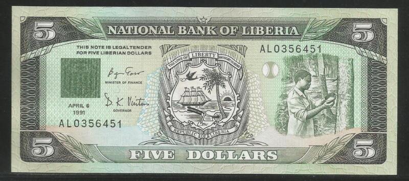 Liberia P-20 50 Dollars 1991 Unc