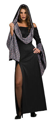Dressing Goth For Halloween (Rose Robe Dress Halloween Gothic hooded dress Costume for)