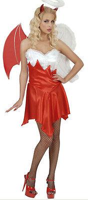 Engel und Teufel Kostüm für Damen NEU - Damen Karneval Fasching Verkleidung Kost