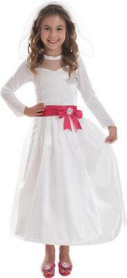 Barbie Braut-Kostüm für Mädchen Cod.218456 ()