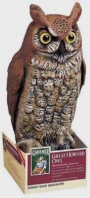 "Dalen GREAT HORNED OWL Ornamental Scarecrow Decoy Repels Birds 16"" Garden OW-6"