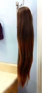 """Brown to blonde umbre 22""""hair extension pony tail clip on"""