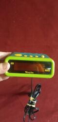 Westclox 90's Retro Blue & Green Alarm Clock Model 66704 Red Digital Display