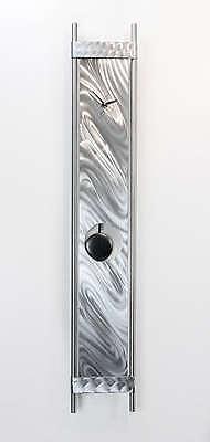 Large Black/Silver Modern Wall Clock - Contemporary Metal Wall Art by Jon Allen