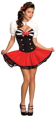 Naval Pin-Up Navy Sailor Girl Retro Fancy Dress Halloween Sexy Adult Costume](Navy Pin Up Girl Costume)