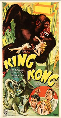 King Kong (RKO, 1933)- THREE SHEET - MOVIE POSTER