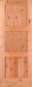 3 panel flat shaker knotty alder stain grade solid core - Knotty alder interior doors sale ...