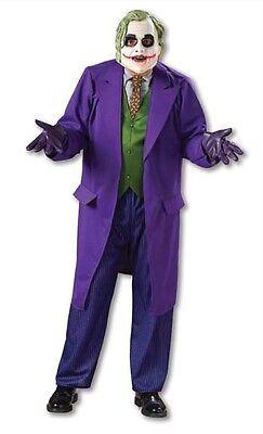 Erwachsene Batman Dark Knight Joker Maske Luxus Kostüm Kleid RU888632