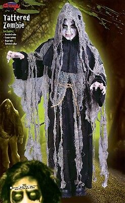 Boys Zombie Costume Reaper Kids Halloween Monster Child DELUXE Ugly S M L - Zombie Costume Kid