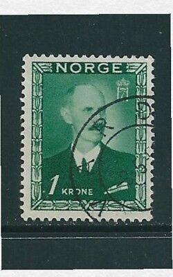 1946 -  Norway King Haakon VII 1 Krone Definitive Stamp SG380 Used