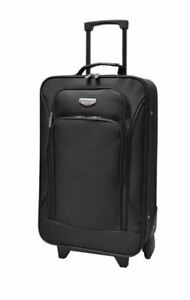 """Traveler's Club 19"""" Rolling Carry On Black"""
