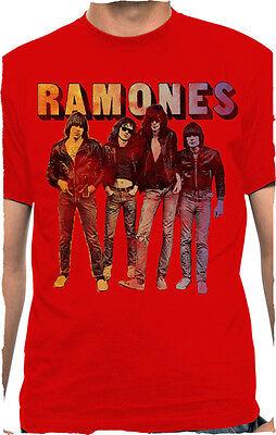 Ramones-band (RAMONES - Band Photo Logo - t shirt S,M,L,XL Brand New - Official Merchandise)