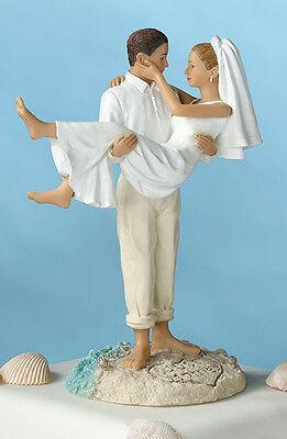 African American or, Caucasian  Figurine Beach Wedding Cake top topper (Wedding Cake Tops)