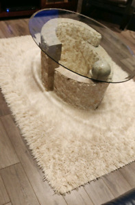 White Wool Area Rug, High Quality, Perfect Condition