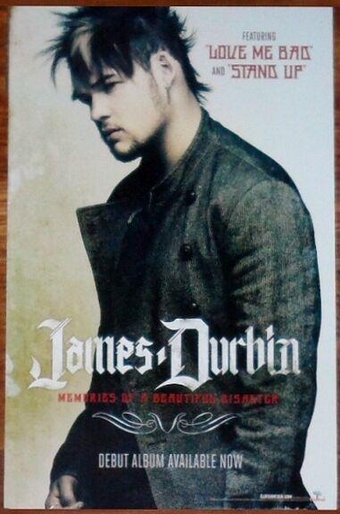 JAMES DURBIN Beautiful Disaster Ltd Ed New RARE Tour Poster +FREE Rock Poster!