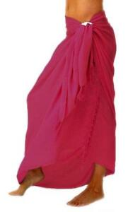 Beautiful summer beach sarongs in 10 different colours
