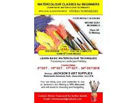Watercolour Class for Beginners with local artist Vivien Townsend
