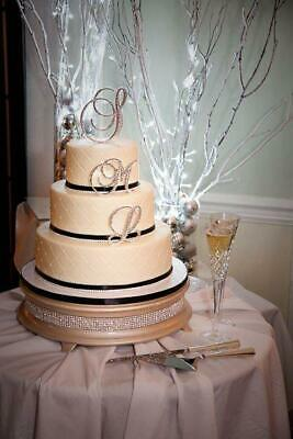 Gorgeous Swarovski Crystal wedding Cake toppers ANY 3 LETTER 6'' last initial