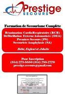 Formation de RCR-Secourisme Complète   4 Octobre 2015