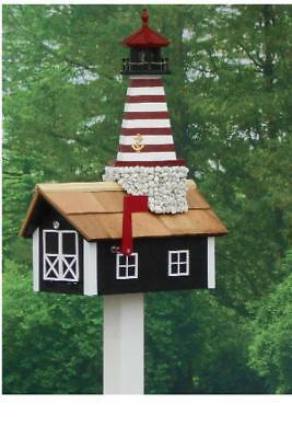 Traditional Lighthouse Mailbox w/ Stone (Lighthouse Mailbox)