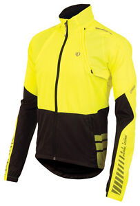 Pearl Izumi 2014 Elite Barrier Convertible Bicycle Jacket Yellow/Black - Large