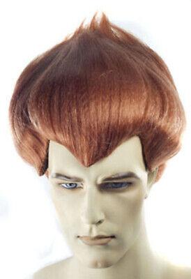 Jimmy Neutron Wig Boy Genius James Issac Mens Adult Costume Auburn Hair](James Costume)