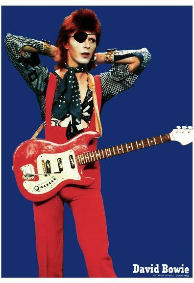 """David Bowie  24"""" POSTER **RARE PICTURE** Live with Hagstrom Guitar - MUST SEE!"""