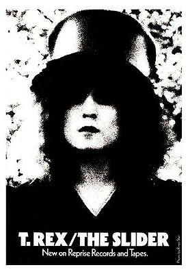 T Rex POSTER Marc Bolan *LARGE & AMAZING* UK Glam Rock the Slider Promo