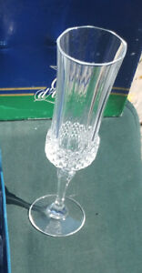 CRYSTAL D'ARQUES FLUTES CHAMPAGNE