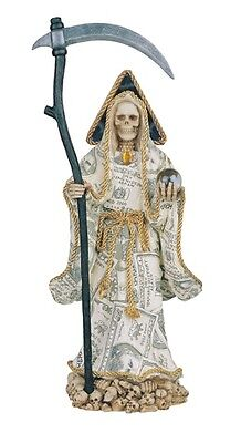 "16"" Inch Money La Santa Santisima Muerte Holy Death Grim Reaper Statue Figurine"