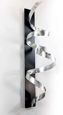 Statements2000 Silver Black 3D Metal Wall Art Sculpture Jon Allen Black Knight