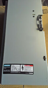 SIEMENS 100 AMP, 2 POLE, 240 VAC FUSED DISCONNECT SWITCH ~ MINT!